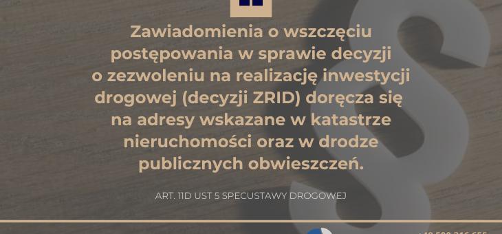 korespondencja urzędowa w toku postępowania o wydanie ZRID, czyli dlaczego urząd nie poinformował mnie o postępowaniu wywłaszczeniowym?