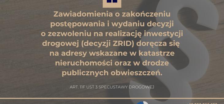 korespondencja urzędowa w związku z wydaniem decyzji ZRID, czyli dlaczego urząd nie poinformował mnie o wywłaszczeniu nieruchomości?